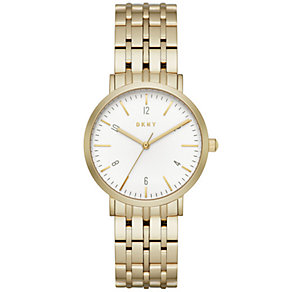 DKNY Ladies' Gold Plated Bracelet Watch - Product number 5253780