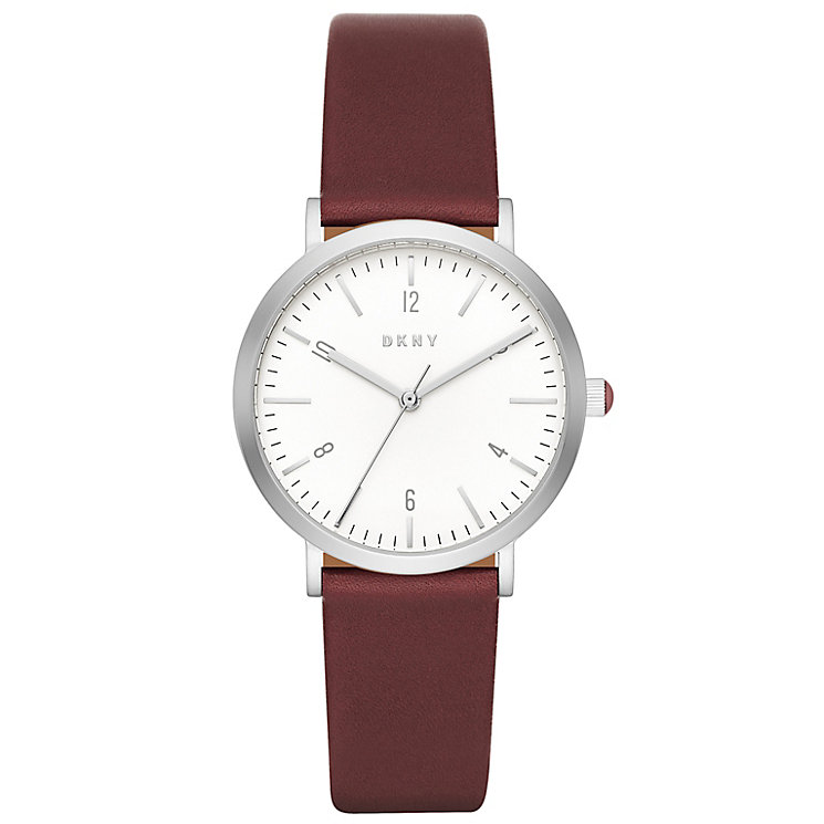 DKNY Ladies' Red Leather Strap Watch - Product number 5253810