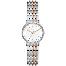DKNY Ladies' Two Tone Stainless Steel Bracelet Watch - Product number 5253845