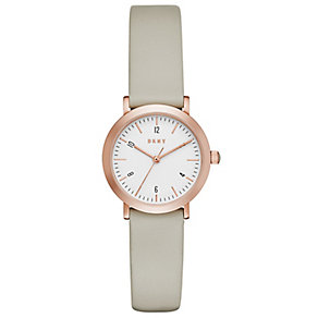 DKNY Grey Leather Strap Watch - Product number 5253896