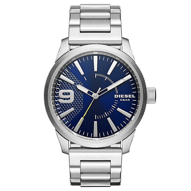 Diesel Rasp Men's Blue Dial Stainless Steel Bracelet Watch - Product number 5253942