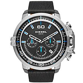 Diesel Deadeye Men's Chronograph Black Leather Strap Watch - Product number 5253969