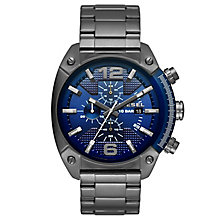 Diesel Overflow Men's Gunmetal Bracelet Watch - Product number 5253977