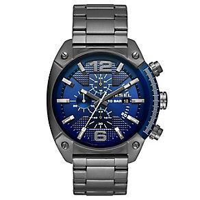 Diesel Overflow Men's Gunmetal Bracelet Watch - Product number 5253977