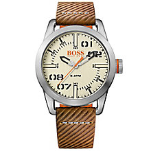 hugo boss watches boss orange watches for men h samuel boss orange oslo men s brown leather strap watch product number 5254116