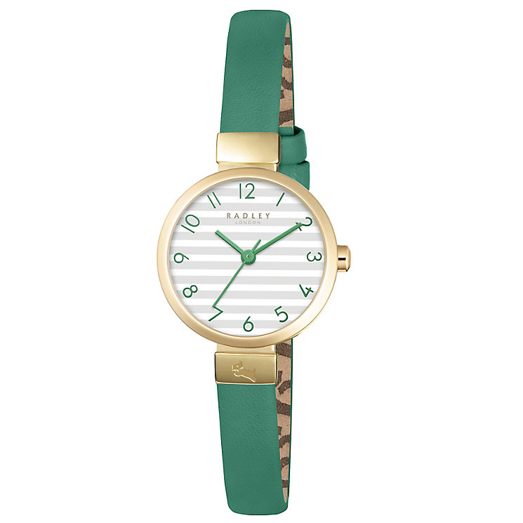 Radley Ladies' Green Leather Strap Watch - Product number 5254205