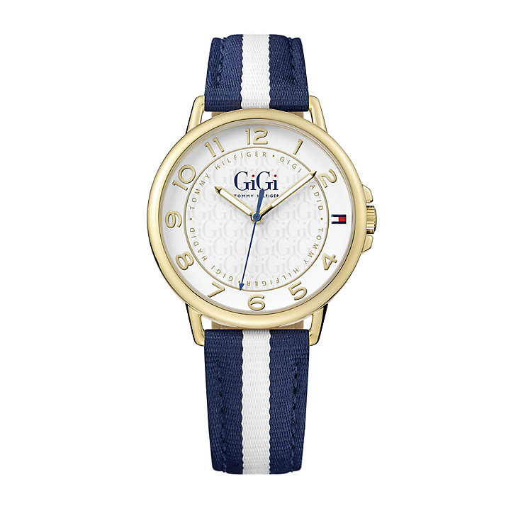 Tommy Hilfiger GiGi Ladies' Blue & White Fabric Strap Watch - Product number 5254337