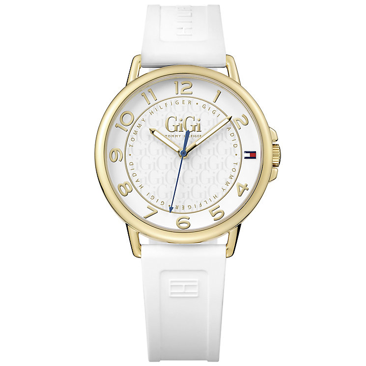 Tommy Hilfiger x Gigi Hadid Ladies' White Rubber Strap Watch - Product number 5254345
