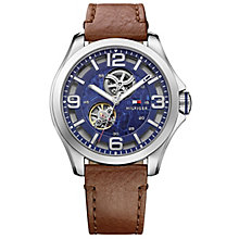 Tommy Hilfiger Men's Brown Leather Strap Watch - Product number 5254469
