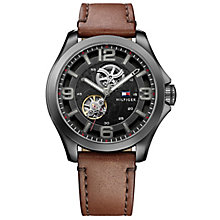 Tommy Hilfiger Gent's Brown Leather Strap Watch - Product number 5254477