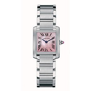 Cartier Tank Francaise ladies' steel bracelet watch - Product number 5256615