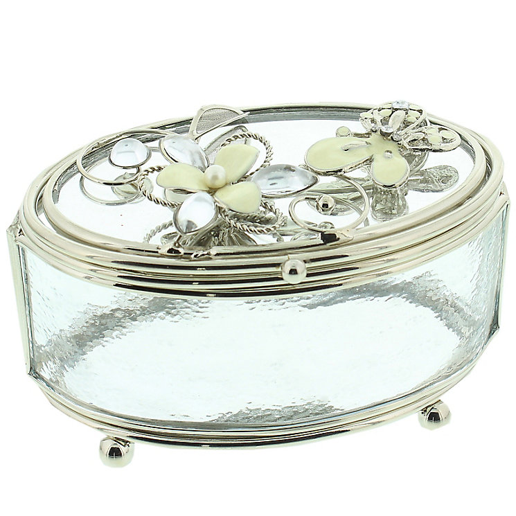 Cream Butterfly Trinket Box - Product number 5256917