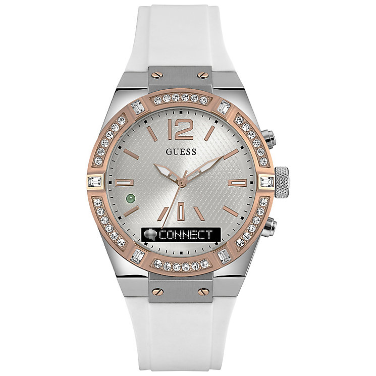 Guess Connect White & Rose Gold 41mm Smartwatch - Product number 5257395
