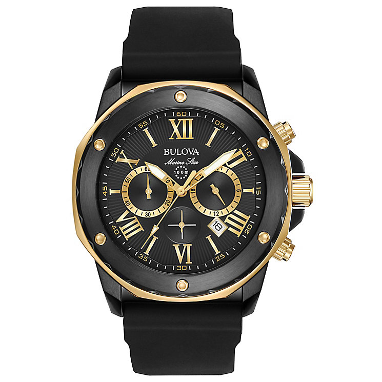 Bulova Precisionist Men's Ion Plated Strap Watch - Product number 5257565