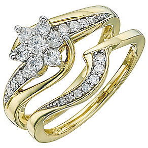 Perfect Fit 18ct Yellow Gold 1/2ct Diamond Bridal Set - Product number 5258251