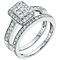 Perfect Fit Platinum 0.75ct Diamond Bridal Set - Product number 5258863