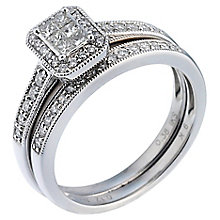Perfect Fit Platinum 1/2ct Diamond Bridal Ring Set - Product number 5259002