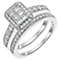Perfect Fit Platinum 1ct Diamond Bridal Set - Product number 5259169