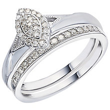 Perfect Fit 18ct White Gold 1/5 Carat Diamond Bridal Set - Product number 5259711