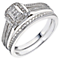 Perfect Fit 18ct White Gold 0.12ct Diamond Bridal Set - Product number 5259975