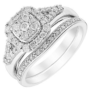 Perfect Fit 18ct Yellow Gold 1/2ct Diamond Bridal Set - Product number 5261244
