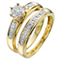 Perfect Fit 18ct Yellow 1/5 Carat Diamond Bridal Set - Product number 5262518