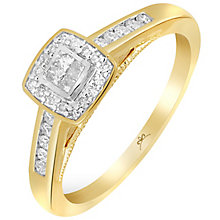 18ct Yellow Gold 1/4 Carat Princessa Diamond Cluster Ring - Product number 5263840
