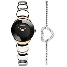 Seksy Ladies' Black Watch and Bracelet Set - Product number 5265991