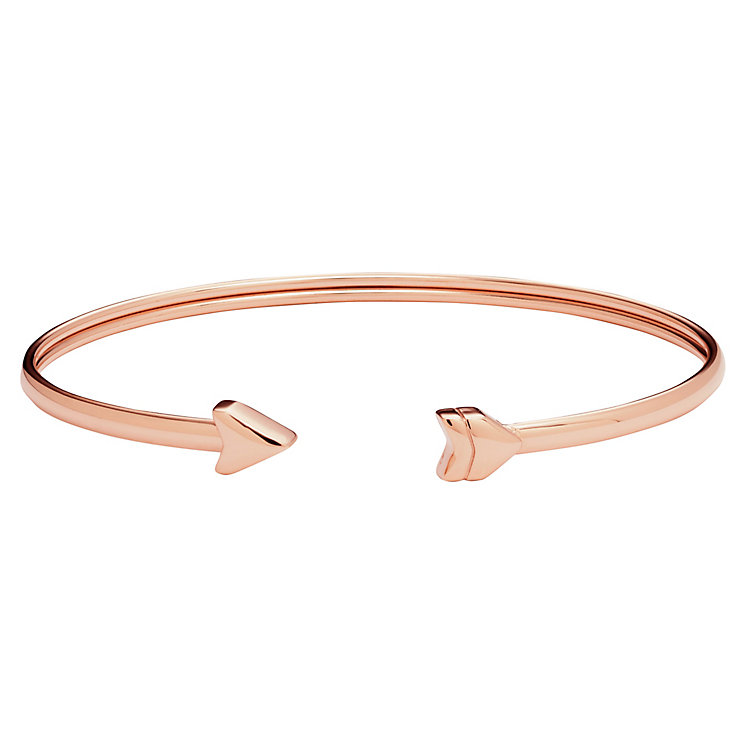 Fossil Rose Gold-Plated Arrow Bangle - Product number 5266912