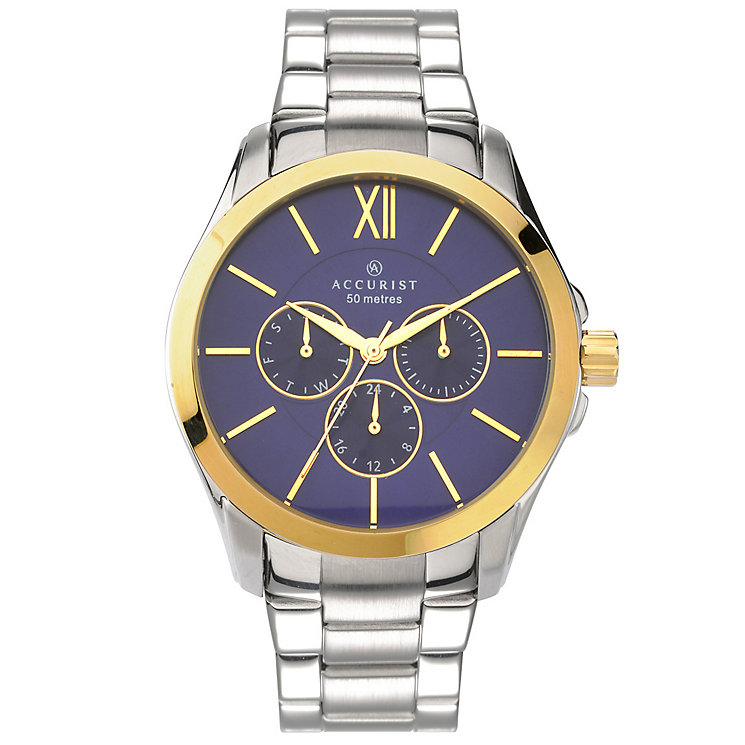 Accurist Gent's Gold Plated Bracelet Watch - Product number 5266955