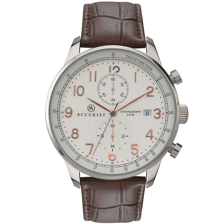 Accurist Gent's Brown Strap Watch - Product number 5266963