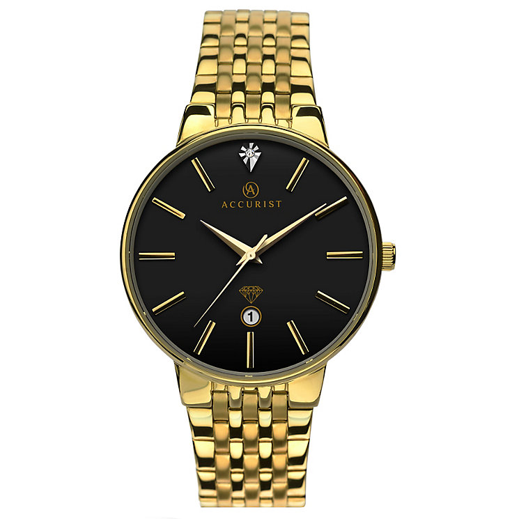 Accurist Gent's Gold Plated Bracelet Watch - Product number 5266971
