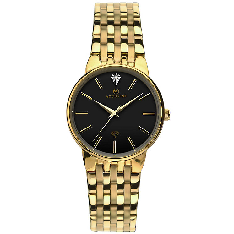 Accurist Ladies' Gold Plated Bracelet Watch - Product number 5267005