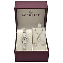 Accurist Ladies' Stone Set Watch Earrings and Pendant Set - Product number 5267048