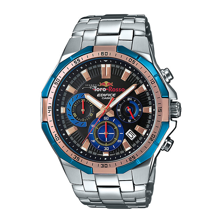 Casio Edifice Toro Rosso Men's Steel Bracelet Watch - Product number 5267196