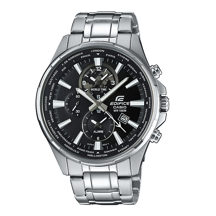 Casio Edifice Men's Black Dial Stainless Steel Watch - Product number 5267218