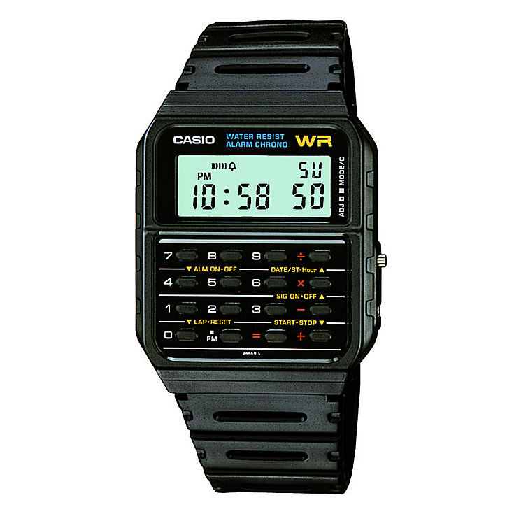 Casio Men's Calculator Black Resin Strap Watch - Product number 5267242