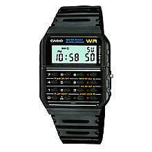casio watches edifice g shock solar digital h samuel casio men s calculator black resin strap watch product number 5267242