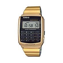 Casio Men's Calculator Gold-Plated Bracelet Watch - Product number 5267250