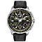 Citizen Eco-Drive Skyhawk A.T Men's Black Leather Watch - Product number 5267285