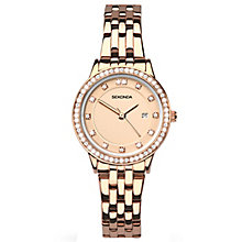 Sekonda Ladies' Stone Set Rose Gold-Plated Bracelet Watch - Product number 5267331