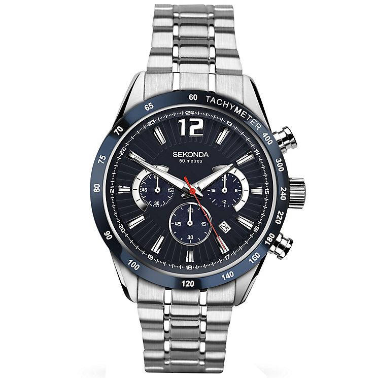 Sekonda Men's Black Dial Stainless Steel Bracelet Watch - Product number 5267366