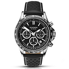 Sekonda Gents Stainless Steel Leather Strap Watch - Product number 5267412
