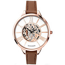Sekonda Editions Ladies' Brown Leather Strap Watch - Product number 5267455