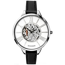 Sekonda Editions Ladies' Black Leather Strap Watch - Product number 5267463
