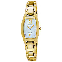 Seiko  Solar Ladies' Gold Plated Bracelet Watch - Product number 5267595