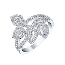 9ct White Gold 0.50ct Four Leaf Diamond Ring - Product number 5267692