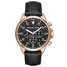 Michael Kors Gage Men's Rose Gold Tone Strap Watch - Product number 5268605