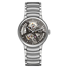 rado watches ernest jones rado centrix men s stainless steel skeleton bracelet watch product number 5268613