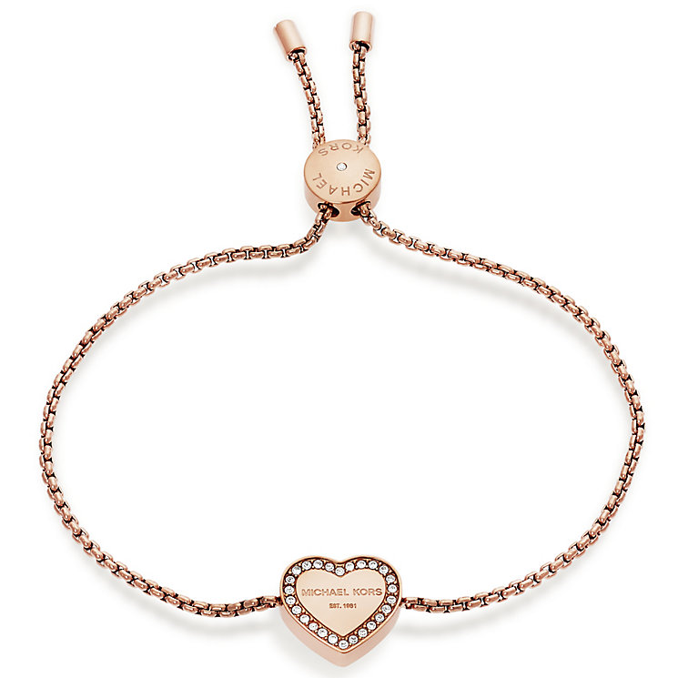 michael kors rose gold tone heart bracelet ernest jones. Black Bedroom Furniture Sets. Home Design Ideas